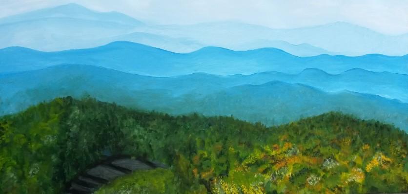 Blue ridge mnts with road still